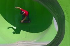 Javier Y.  en la burbuja verde