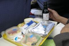 La comida en el avión de Iberia
